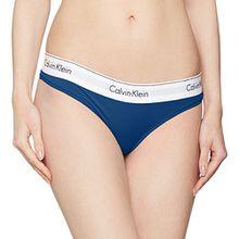 Calvin Klein Damen String Thong, Blau (Orion 7OO), 40 (Herstellergröße:L)