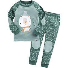 Vaenait Baby Kinder Jungen Nachtwaesche Schlafanzug-Top Bottom 2 Stueck Set Oh Bear XL