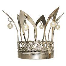Krone mit Perlen, silber Mädchen Kinder