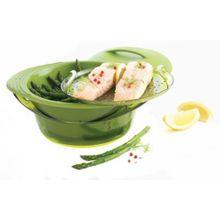 mastrad Silikon Dampfgarer grün