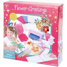 Kreativset Karten mit Blumengrüßen