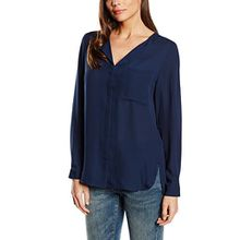 SELECTED FEMME Damen Regular Fit Bluse SFDYNELLA LS Shirt F NOOS, Gr. 40, Blau (Navy Blazer)