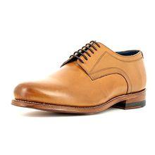 Gordon & Bros Herrenschuhe levet 2320 Klassischer Rahmengenähter Schnürhalbschuh mit Derbyschnürung und Schuhspanner IM Geschenkset Braun (Tan), EU 42
