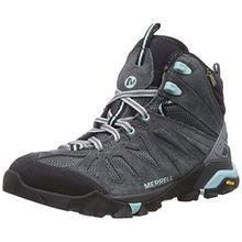 Merrell Capra Mid GTX, Damen Trekking- & Wanderstiefel, Grau (Granite), 37.5 EU