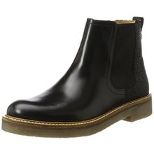 Kickers Damen Oxfordchic Chelsea Boots, Schwarz (Noir Graine), 38 EU