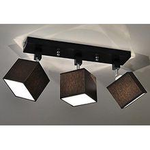 Designer Decken Leuchte Lampe Retro Spot Strahler Salon Bar Theke E27 Power LED New York 10 (Sockelfarbe: Schwarz)