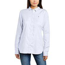 Tommy Hilfiger Damen Slim Fit Bluse Jenna Shirt LS W2, Gr. 34 (Herstellergröße: 4), Weiß (Classic White 100)