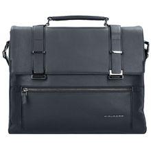 Piquadro Bae Aktentasche Leder 43 cm Laptopfach schwarz