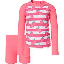 Kinder Schwimmanzug VALO RASH neonpink Mädchen Kinder