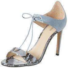 HUGO Damen Vanea-P 10197235 01 Offene Sandalen mit Keilabsatz, Blau (Light/Pastel Blue 451), 37.5 EU