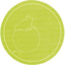 Kinderteppich Froschkönig gelb