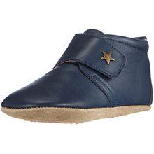 Bisgaard Unisex Baby Velcro Star Pantoffeln, Blau (21 Navy), 19 EU