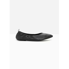 Leather Ballet Flat - Black