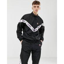 K-Swiss - Westmont - Schwarze Trainingsjacke mit Zierstreifen - Schwarz