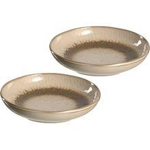 LEONARDO 2er-Set Keramik Teller, tief, Ø21 cm beige
