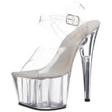 Pleaser Ado708, Damen Plateau Pumps, Transparent (Clear), 36 EU