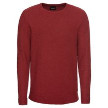 Only & Sons Pullover onsLOCAN NAP STRUC. KNIT Pullover weinrot Herren