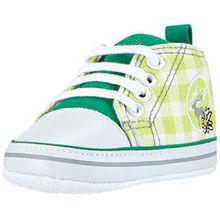 Playshoes Turnschuhe Sneaker Kariert 121540, Unisex Baby Krabbelschuhe, Grün (Grün 29), 16 EU