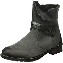 Remonte Damen R3338 Biker Boots, Grau (Gris/Fumo/Graphit/Schwarz-Silber/Granit/45), 41 EU