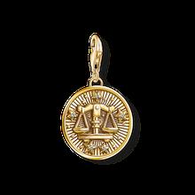 Thomas Sabo Charm-Anhänger Sternzeichen Waage gelbgoldfarben-glänzend 1658-414-39