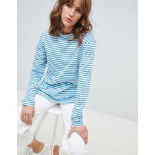 MiH Jeans - Emelie - Gestreiftes Oberteil mit Stehkragen - Blau