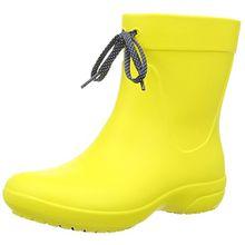 crocs Freesail Shorty Rain Boots, Damen Gummistiefel, Gelb (Lemon), 36/37 EU