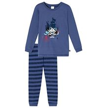 Schiesser Jungen Zweiteiliger Capt´n Sharky Kn Schlafanzug Lang, Blau (Blau 800), 140