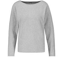 Gerry Weber Pullover Langarm Rundhals Pullover mit Fledermausarm Sweatshirts grau Damen
