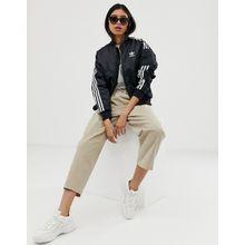adidas Originals - Locked Up - Schwarze Trainingsjacke mit Dreiblatt und drei Streifen - Schwarz