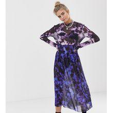 COLLUSION - Hängerkleid aus Netzstoff in Batik - Mehrfarbig