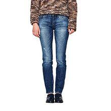 edc by ESPRIT Damen Slim Jeans 997CC1B822, Blau (Blue Dark Wash 901), W28/L30
