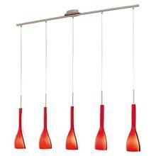Design Pendel Hänge Decken Lampe Nickel-matt Glas Beleuchtung EGLO 87673