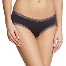 ESPRIT Bodywear Damen Panties LISMORE, Einfarbig, Gr. 40, Schwarz (BLACK 001)