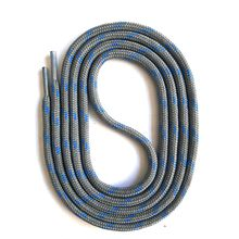 SNORS shoefriends Schnürsenkel rund 75-200cm, 5mm aus Polyester Schnürsenkel blau/grau