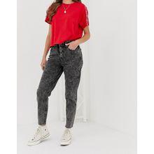Levi's - Mom-Jeans mit sichtbaren Knöpfen - Schwarz