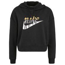 Nike Sportswear Rally Metallic Kapuzenpullover Damen schwarz Damen