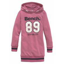 BENCH Kleid pink / schwarz / weiß