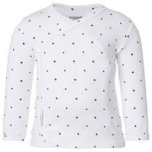 Noppies Unisex Baby T-Shirt U Tee LS Anne AOP, Sternchen, Gr. 74, Weiß (White C001)