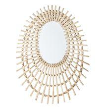 Bloomingville - Spiegel geflochten, L 48 x H 64 cm