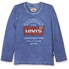 Levi's Jungen T-Shirt LS Tee Bluebats, Bleu (Delft), 12 Jahre
