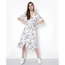 tigha Damen Kleider & Röcke Jola mehrfarbig (faded flower white)
