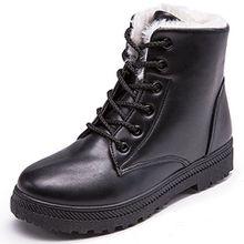 Eagsouni Damen Winterstiefel Worker Boots Gefüttert Stiefeletten Winter Warme Schnür Martin Stiefel Schuhe Leder Combat Boots