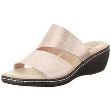 Jana Damen 27215 Offene Sandalen mit Keilabsatz, Pink (Rose Metallic 952), 40 EU