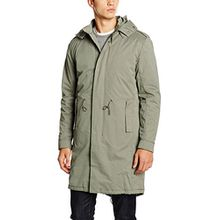 SELECTED HOMME Herren Mantel Shnfishtail Parka, Grau (Castor Gray), Medium