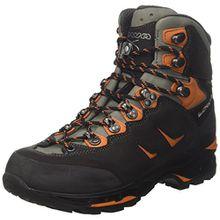 Lowa Herren Camino GTX Men Trekking-& Wanderstiefel, Schwarz (Schwarz/Orange 920), 45 EU