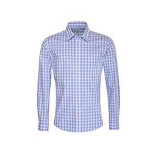 Almsach Trachtenhemd Langarmhemden hellblau Herren