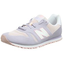 New Balance Unisex-Kinder Kd373v1y Sneaker, Grau (Grey/Pink), 28 EU