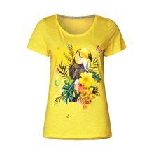 CECIL Shirt mit Tropical Print gelb