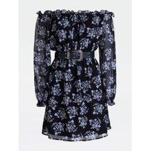GUESS Kleid rauchblau / schwarz