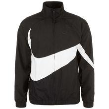 Nike Sportswear Woven Swoosh Windbreaker Herren schwarz/weiß Damen